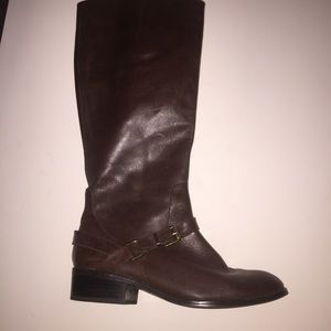 Ralph Lauren Brown Leather Riding Boots